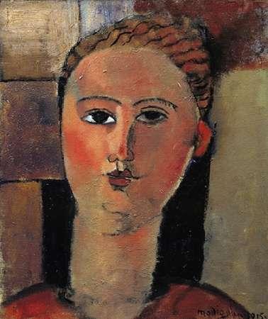 konfigurieren des Kunstdrucks in Wunschgröße Red Haired Girl von Modigliani, Amedeo