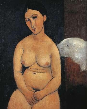 konfigurieren des Kunstdrucks in Wunschgröße Seated Nude 1 von Modigliani, Amedeo