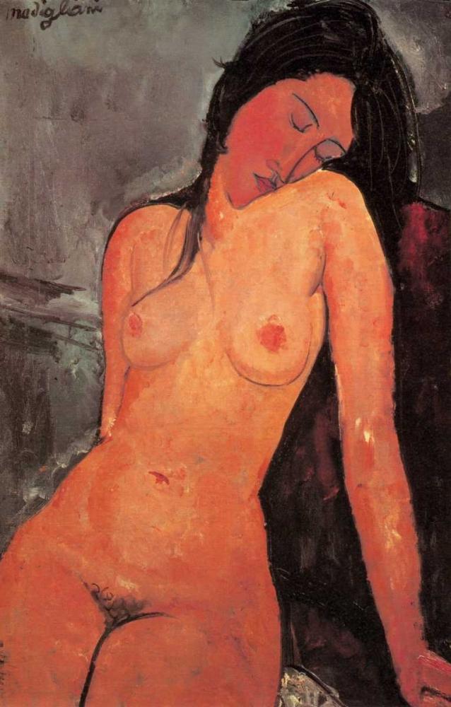 konfigurieren des Kunstdrucks in Wunschgröße The Seated Nude von Modigliani, Amedeo