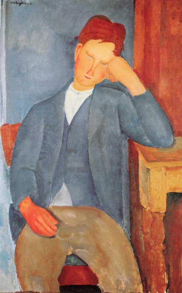 konfigurieren des Kunstdrucks in Wunschgröße The Young Apprentice von Modigliani, Amedeo