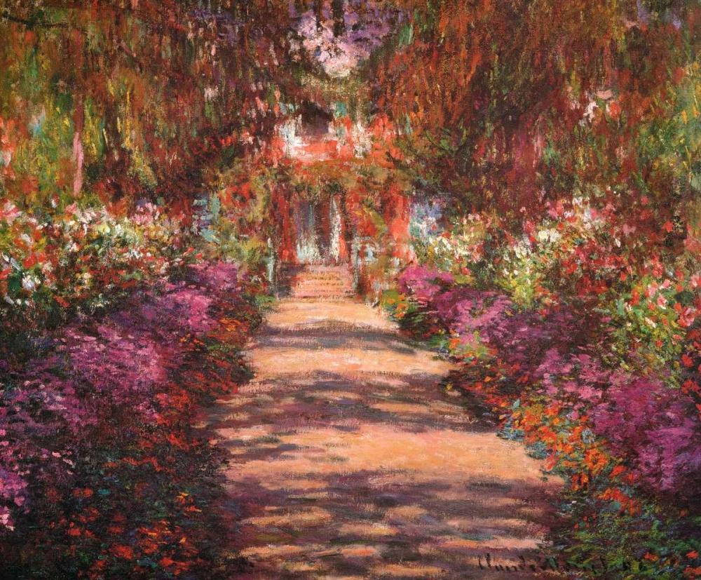 A Lane In Monets Garden Giverny II von Monet, Claude <br> max. 122 x 99cm <br> Preis: ab 10€