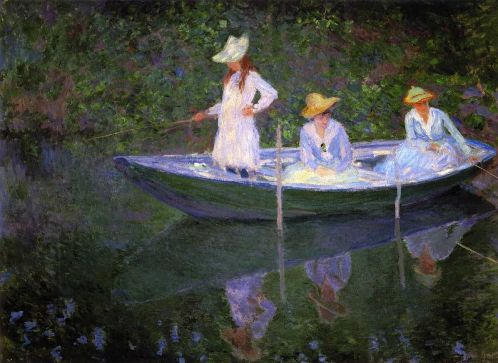 konfigurieren des Kunstdrucks in Wunschgröße Barque A Giverny von Monet, Claude