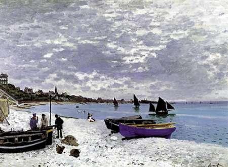 konfigurieren des Kunstdrucks in Wunschgröße Beach At Sainte Adresse 1867 von Monet, Claude