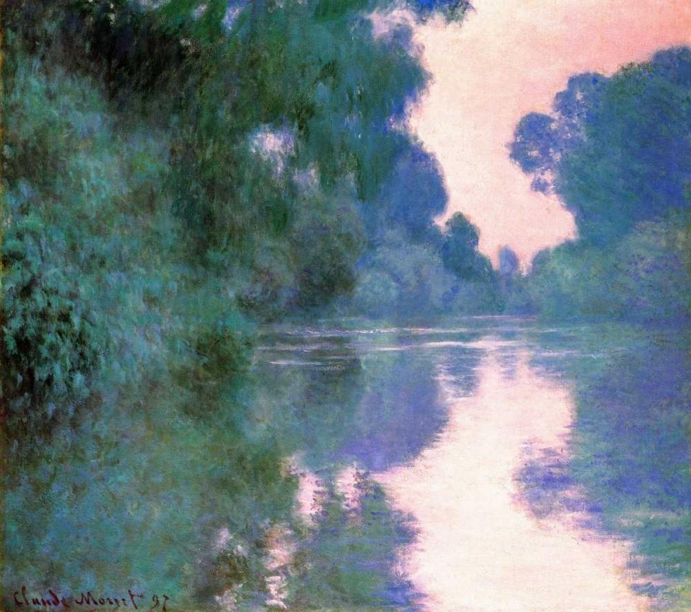 konfigurieren des Kunstdrucks in Wunschgröße Branch Of The Seine Near Giverny 2 1897 von Monet, Claude