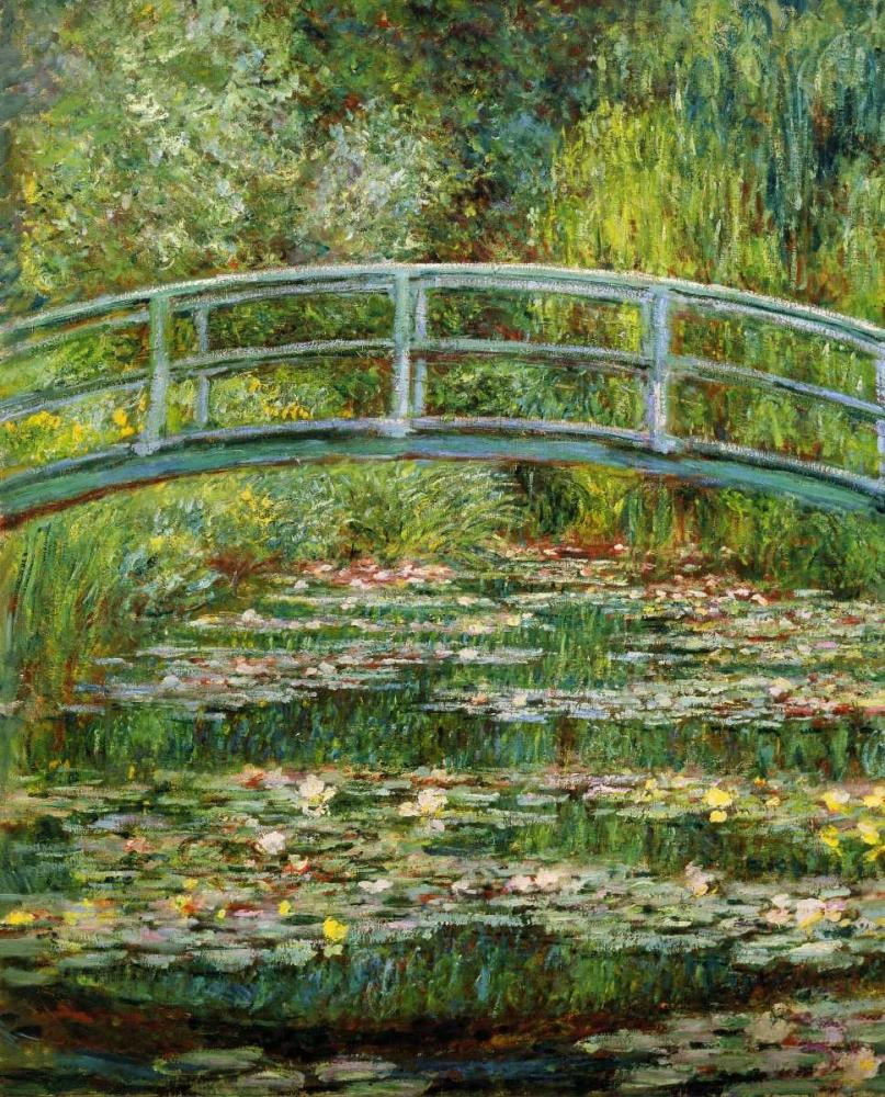 konfigurieren des Kunstdrucks in Wunschgröße Japanese Bridge And Water Lilies - 1 von Monet, Claude