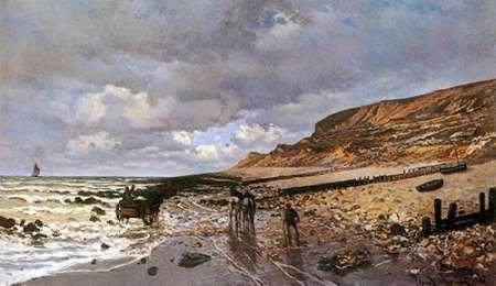 konfigurieren des Kunstdrucks in Wunschgröße La Pointe De La Heve At Low Tide von Monet, Claude