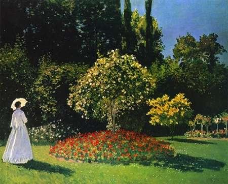 konfigurieren des Kunstdrucks in Wunschgröße Lady In The Garden 1867 von Monet, Claude