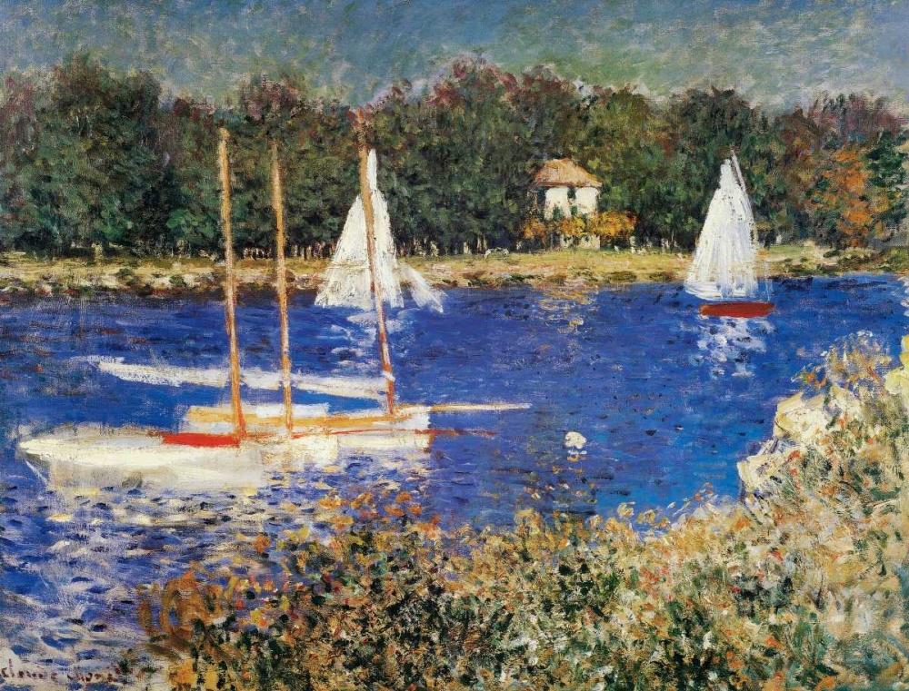 konfigurieren des Kunstdrucks in Wunschgröße The Bassin At Argenteuil von Monet, Claude