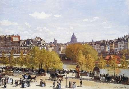 konfigurieren des Kunstdrucks in Wunschgröße Quai Du Louvre 1867 von Monet, Claude