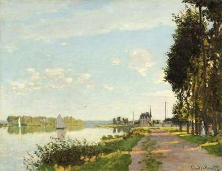 Riverside Walk At Argenteuil 1872 von Monet, Claude <br> max. 132 x 102cm <br> Preis: ab 10€