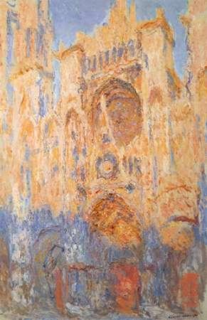 konfigurieren des Kunstdrucks in Wunschgröße Rouen Cathedral Sun Effect End Of The Day von Monet, Claude