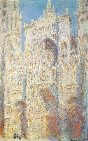 konfigurieren des Kunstdrucks in Wunschgröße Rouen Cathedral West Facade Sunlight 1894 von Monet, Claude
