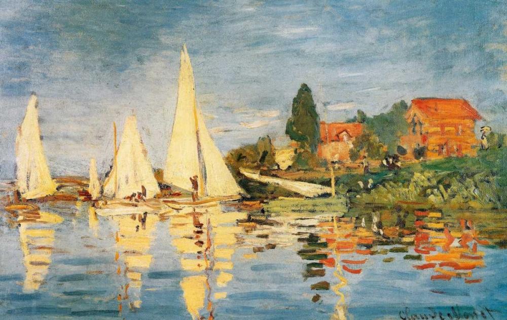 konfigurieren des Kunstdrucks in Wunschgröße Sailboats At Argenteuil von Monet, Claude