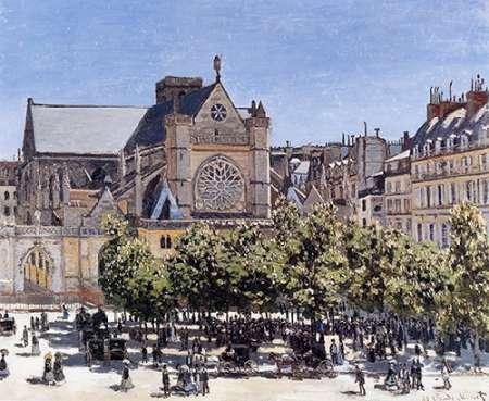 konfigurieren des Kunstdrucks in Wunschgröße Saint-Germain-LAuxerrois 1866 von Monet, Claude
