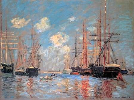 konfigurieren des Kunstdrucks in Wunschgröße Seascape The Port Of Amsterdam 1874 von Monet, Claude