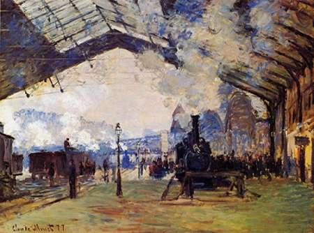 konfigurieren des Kunstdrucks in Wunschgröße St Lazare Station The Arrival Of The Train From Normandy von Monet, Claude