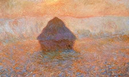 konfigurieren des Kunstdrucks in Wunschgröße Stack Of Wheat Sun In The Mist 1891 von Monet, Claude