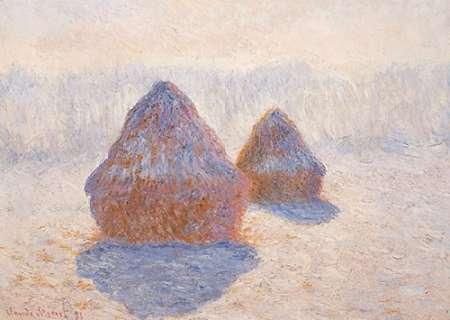 konfigurieren des Kunstdrucks in Wunschgröße Stacks Of Wheat Winter Effect von Monet, Claude