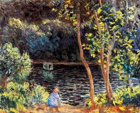 konfigurieren des Kunstdrucks in Wunschgröße The Artists Floating Studio 1876 von Monet, Claude