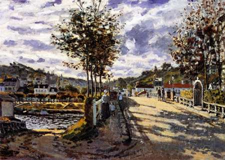 konfigurieren des Kunstdrucks in Wunschgröße The Bridge At Bougival 1870 von Monet, Claude