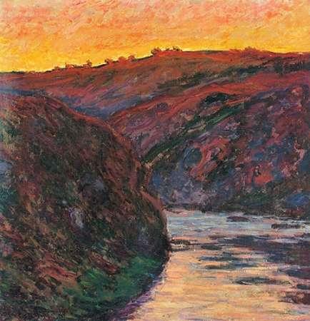 konfigurieren des Kunstdrucks in Wunschgröße The Creuse Sunset 1889 von Monet, Claude