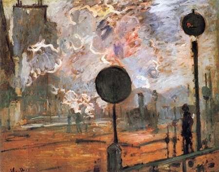 konfigurieren des Kunstdrucks in Wunschgröße The Gare Saint-Lazare The Signal von Monet, Claude