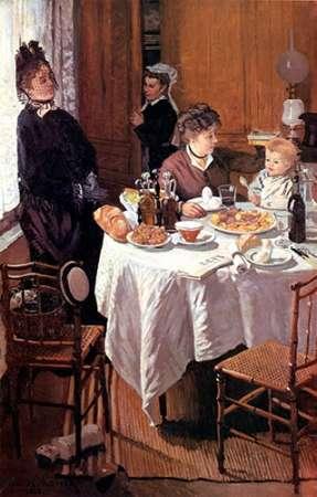 konfigurieren des Kunstdrucks in Wunschgröße Luncheon (Le dejeuner), 1868 von Monet, Claude