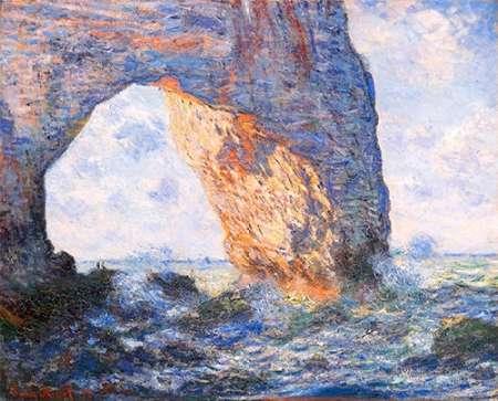 konfigurieren des Kunstdrucks in Wunschgröße The Manneporte At Etretat 1883 von Monet, Claude