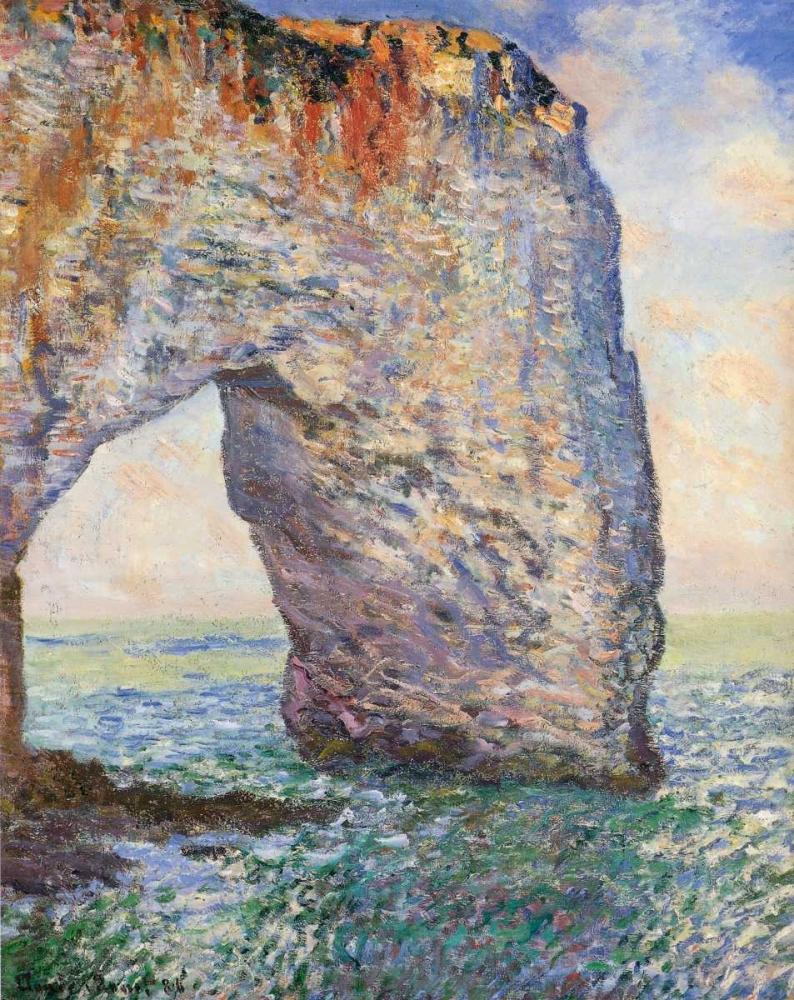 konfigurieren des Kunstdrucks in Wunschgröße The Manneporte Near Etretat 1886 von Monet, Claude
