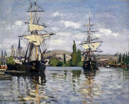 konfigurieren des Kunstdrucks in Wunschgröße The Seine At Rouen 1872 von Monet, Claude