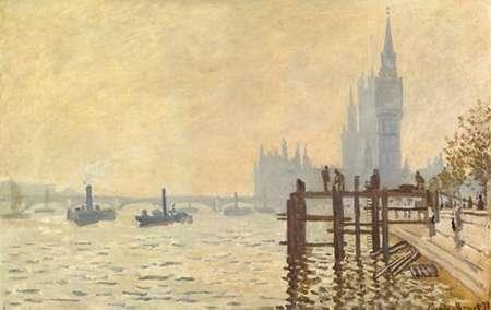 konfigurieren des Kunstdrucks in Wunschgröße The Thames Below Westminster 1871 von Monet, Claude