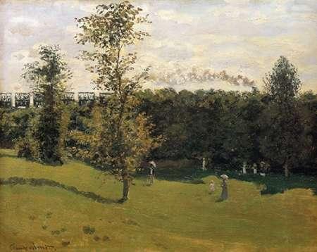 konfigurieren des Kunstdrucks in Wunschgröße Train In The Countryside 1870 von Monet, Claude