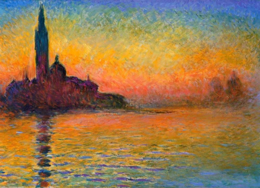 konfigurieren des Kunstdrucks in Wunschgröße Twilight Venice von Monet, Claude