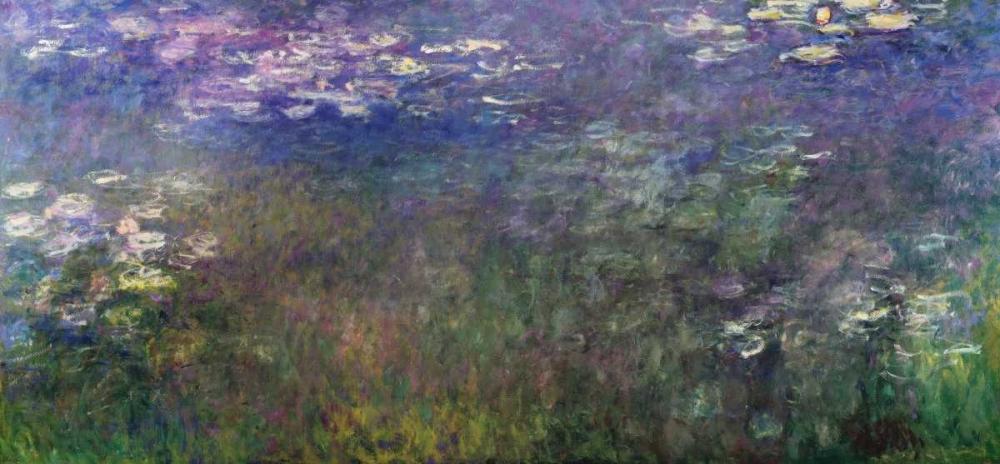 konfigurieren des Kunstdrucks in Wunschgröße Water Lilies 1916-20 von Monet, Claude