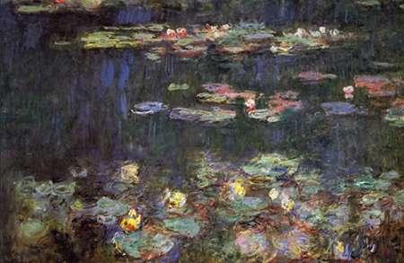 konfigurieren des Kunstdrucks in Wunschgröße Water Lilies Green Reflections von Monet, Claude