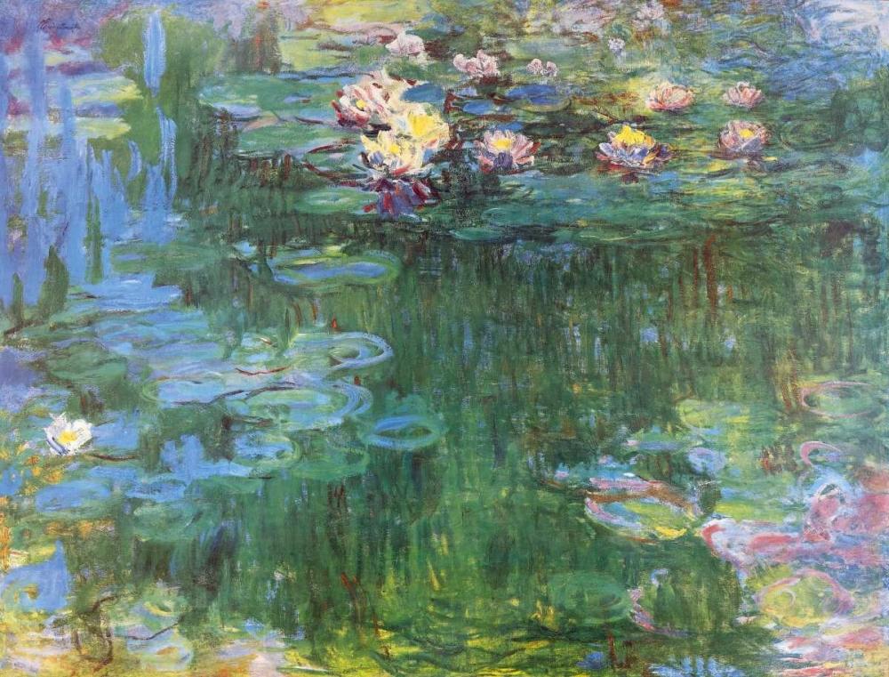 konfigurieren des Kunstdrucks in Wunschgröße Waterlilies 1916 - 3 von Monet, Claude