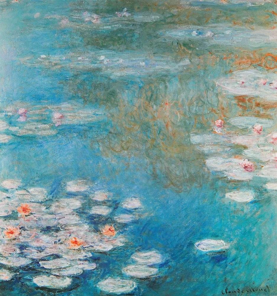 konfigurieren des Kunstdrucks in Wunschgröße Waterlilies At Giverny 1908 von Monet, Claude