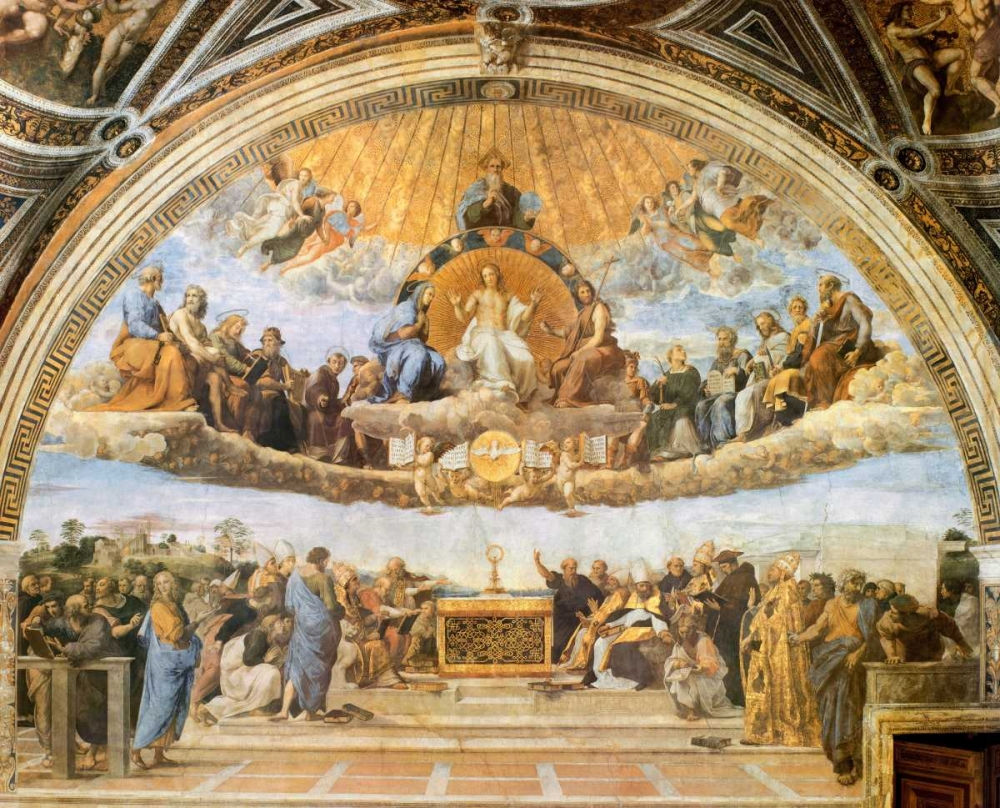 Dispute At The Eucharist von Raphael <br> max. 122 x 97cm <br> Preis: ab 10€