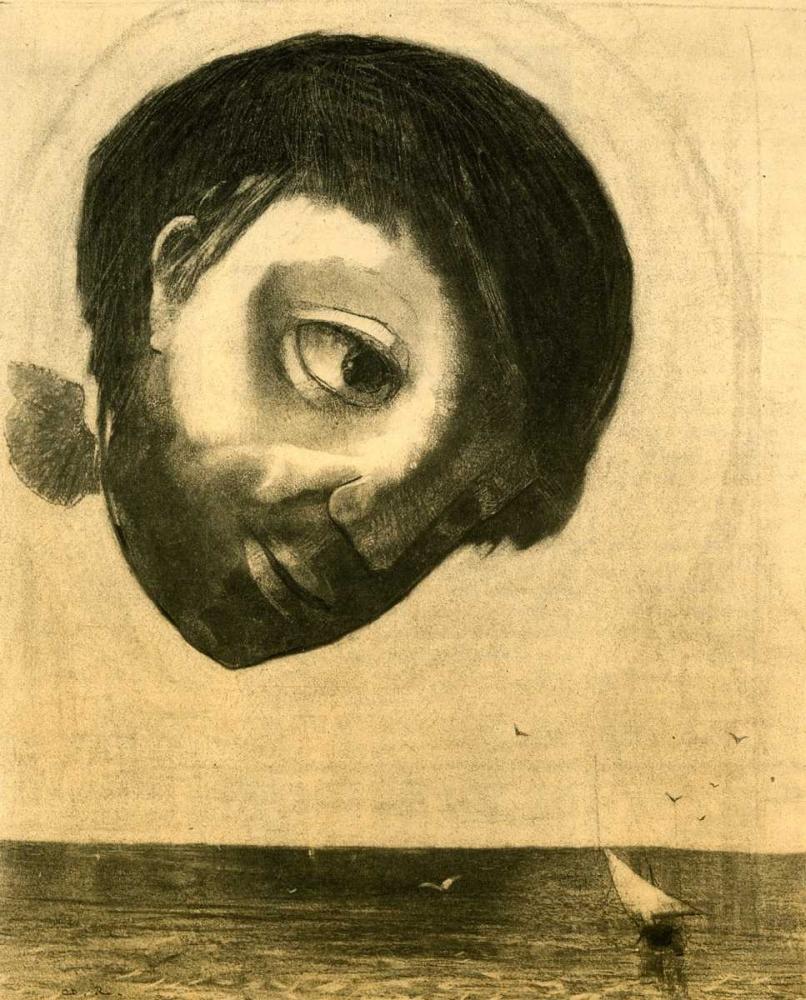 konfigurieren des Kunstdrucks in Wunschgröße Guardian Spirit Of The Waters von Redon, Odilion