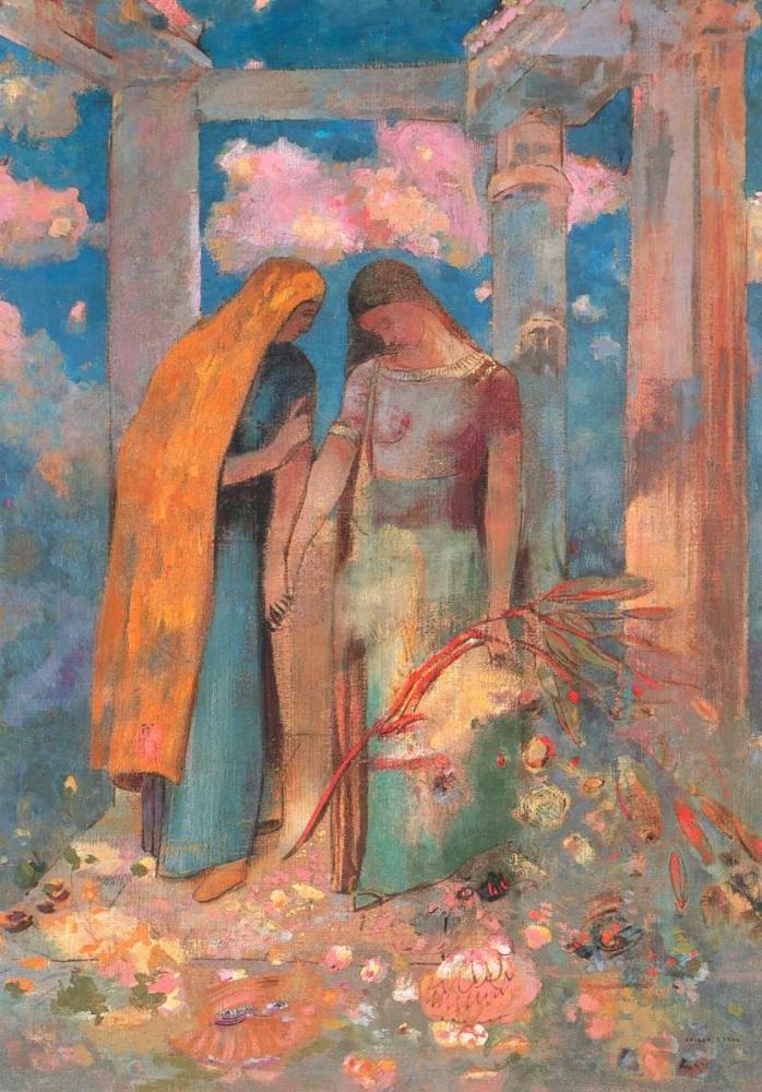 konfigurieren des Kunstdrucks in Wunschgröße Mystical Conversation von Redon, Odilion