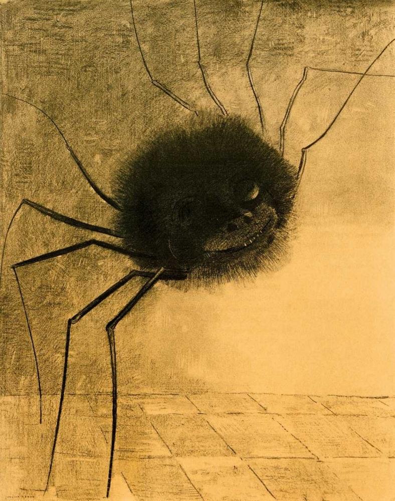 konfigurieren des Kunstdrucks in Wunschgröße The Smiling Spider von Redon, Odilion