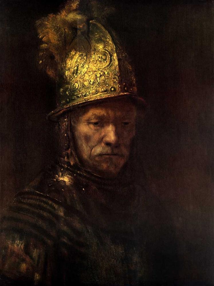 konfigurieren des Kunstdrucks in Wunschgröße Man With Gold Helmet von Rembrandt, van Rijen