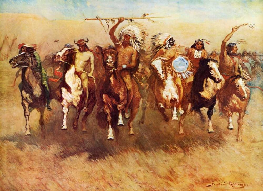 konfigurieren des Kunstdrucks in Wunschgröße Return Of A Blackfoot War Party von Remington, Frederic