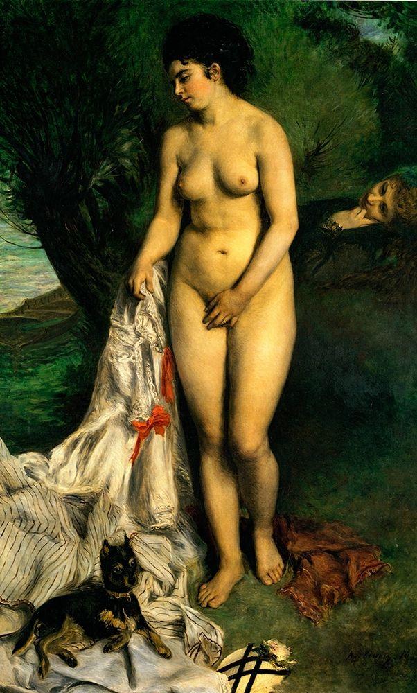 konfigurieren des Kunstdrucks in Wunschgröße Bather With Griffon von Renoir, Pierre-Auguste