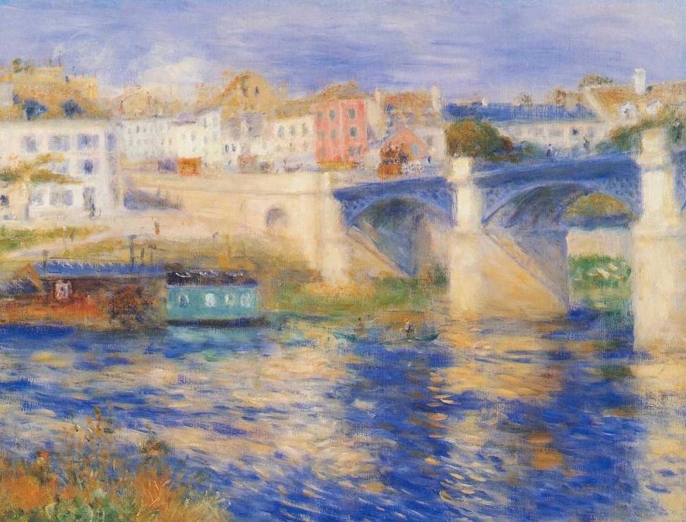 konfigurieren des Kunstdrucks in Wunschgröße Bridge At Chatou von Renoir, Pierre-Auguste