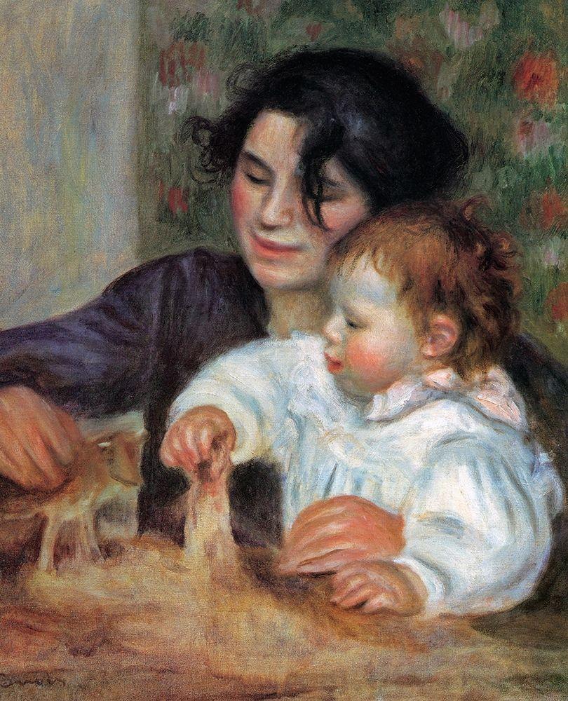 konfigurieren des Kunstdrucks in Wunschgröße Gabrielle With Jean von Renoir, Pierre-Auguste