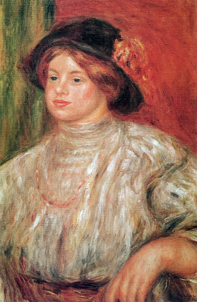 konfigurieren des Kunstdrucks in Wunschgröße Gabrielle With Large Hat von Renoir, Pierre-Auguste