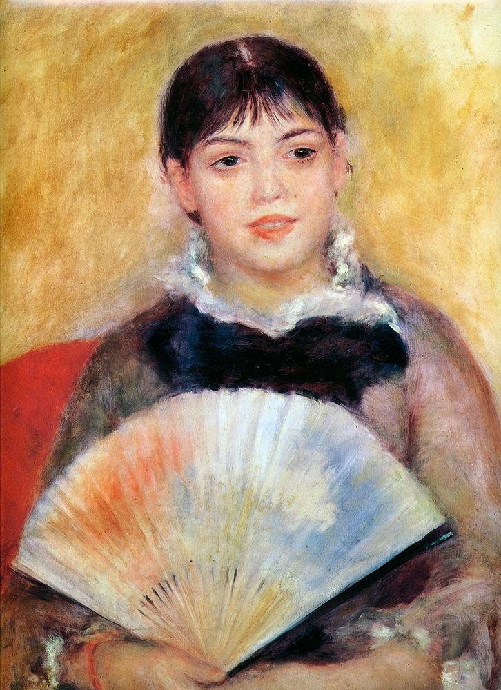 konfigurieren des Kunstdrucks in Wunschgröße Girl With Fan von Renoir, Pierre-Auguste