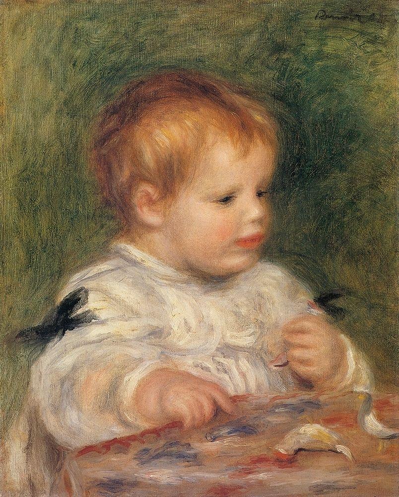 konfigurieren des Kunstdrucks in Wunschgröße Jacques Fray As A Baby von Renoir, Pierre-Auguste