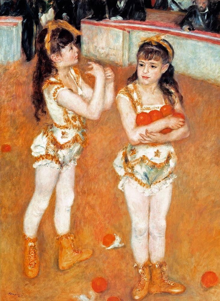 konfigurieren des Kunstdrucks in Wunschgröße Jugglers At The Cirque Fernando von Renoir, Pierre-Auguste